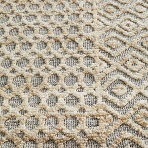 Levi Natural Grey Textured Rug