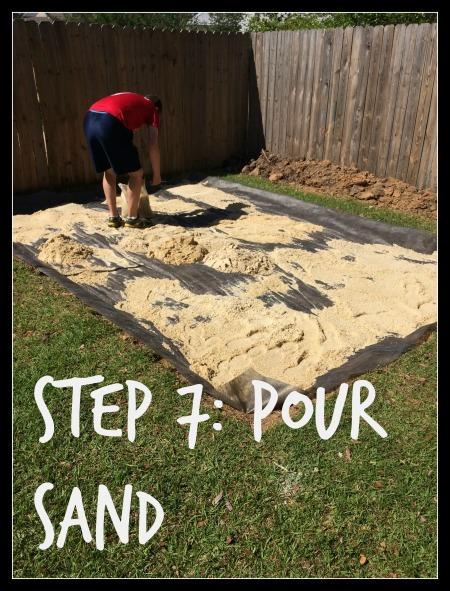 DIY Paver Patio, Step 7, Pour Sand