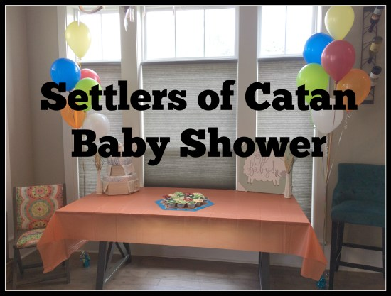 settlers of Catan baby shower