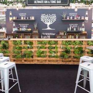 Bespoke Botanical Bar - pallet wood bar