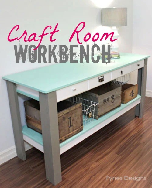 Diy Craft Room Table: Link Party No. 61 With Features