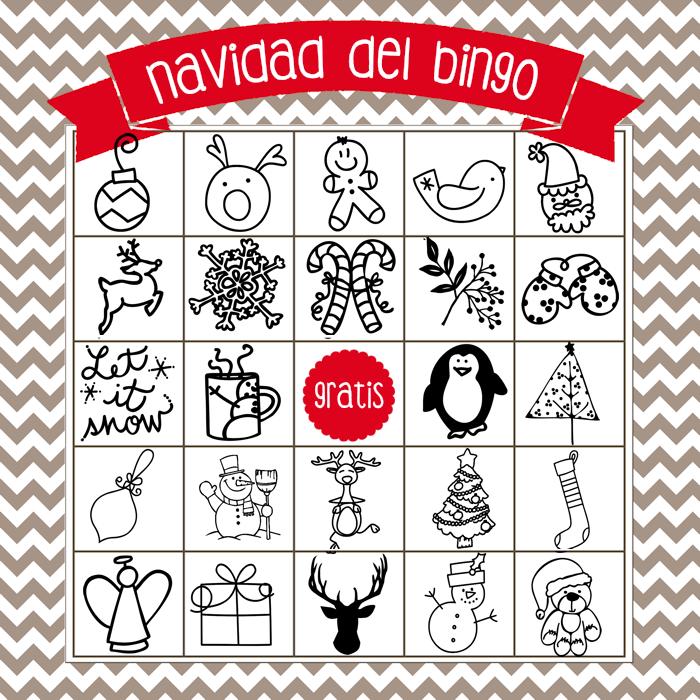 Printable Christmas Bingo Game In English And Spanish