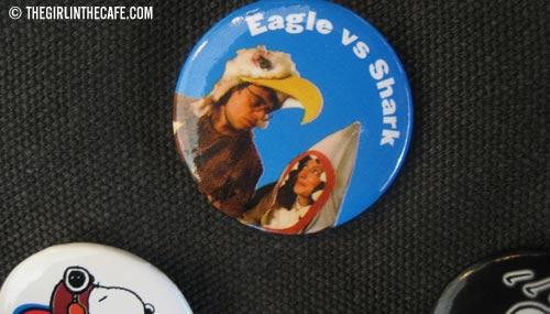 Eagle vs. Shark - on a bag