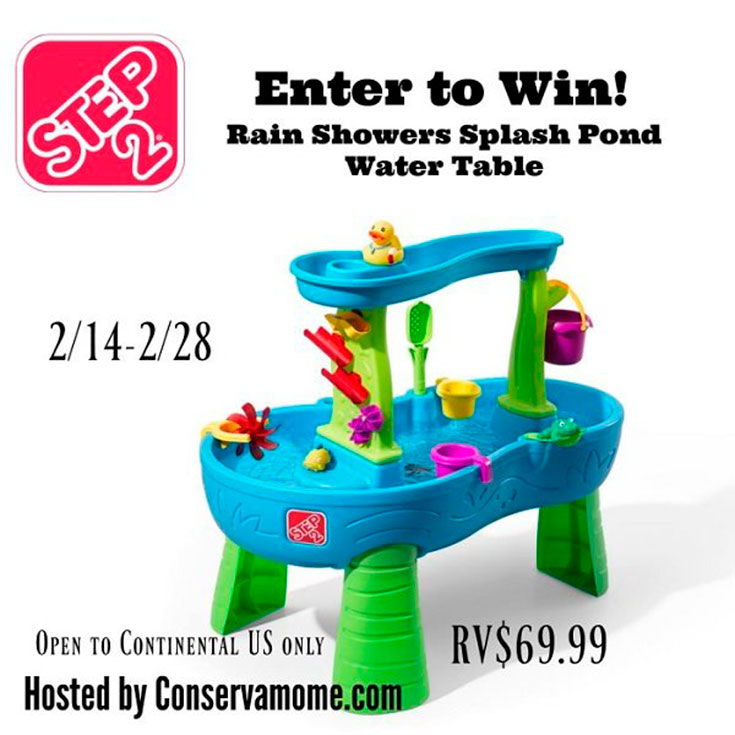 Step 2 Rain Showers Splash Pond Water Table Giveaway
