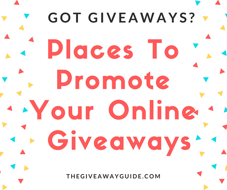 Places To Promote Giveaways