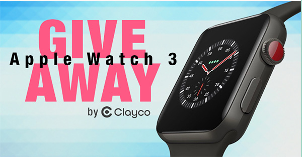 Apple Watch 3 Giveaway by Clayco
