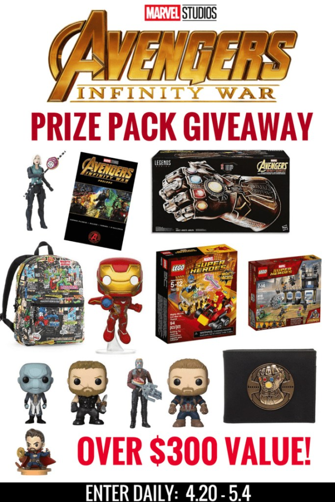 Avengers: Infinity War Prize Pack Giveaway