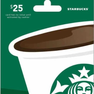 $25 Starbucks Gift Card Giveaway