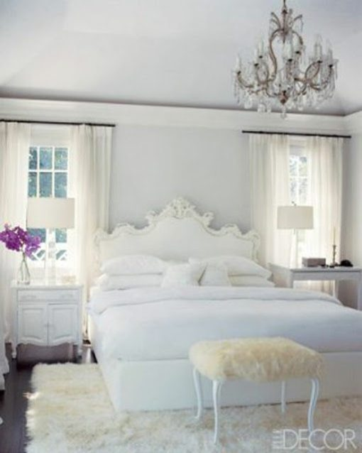 Glamorous white bedrooms for White fur bedroom