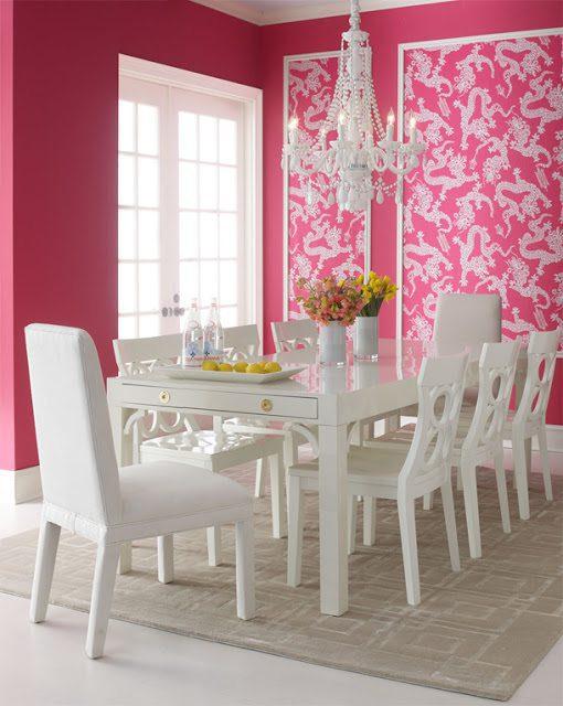 Carleton Varney - 14 Romantic Pink Dining Rooms
