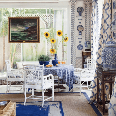 Blue and White and Palm Beach Chic