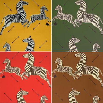 Scalamandre-Inspired Zebra Fabric… on a Budget