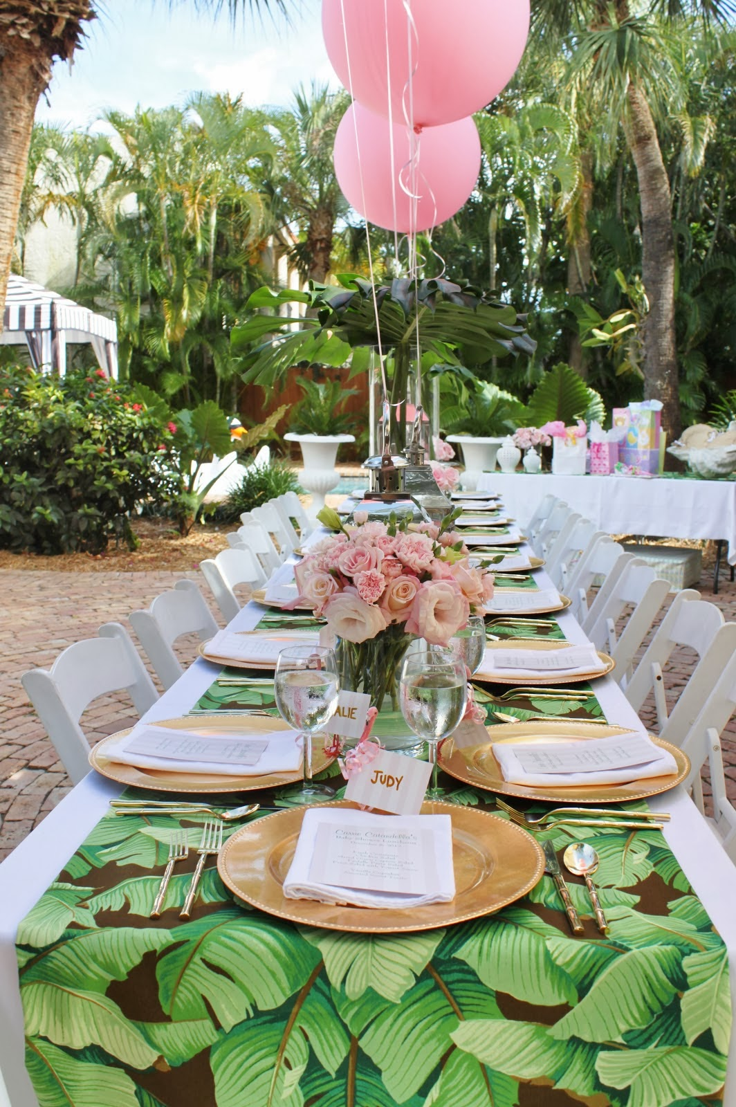 A Palm Beach Chic Baby Shower, By Luxe Report Designs