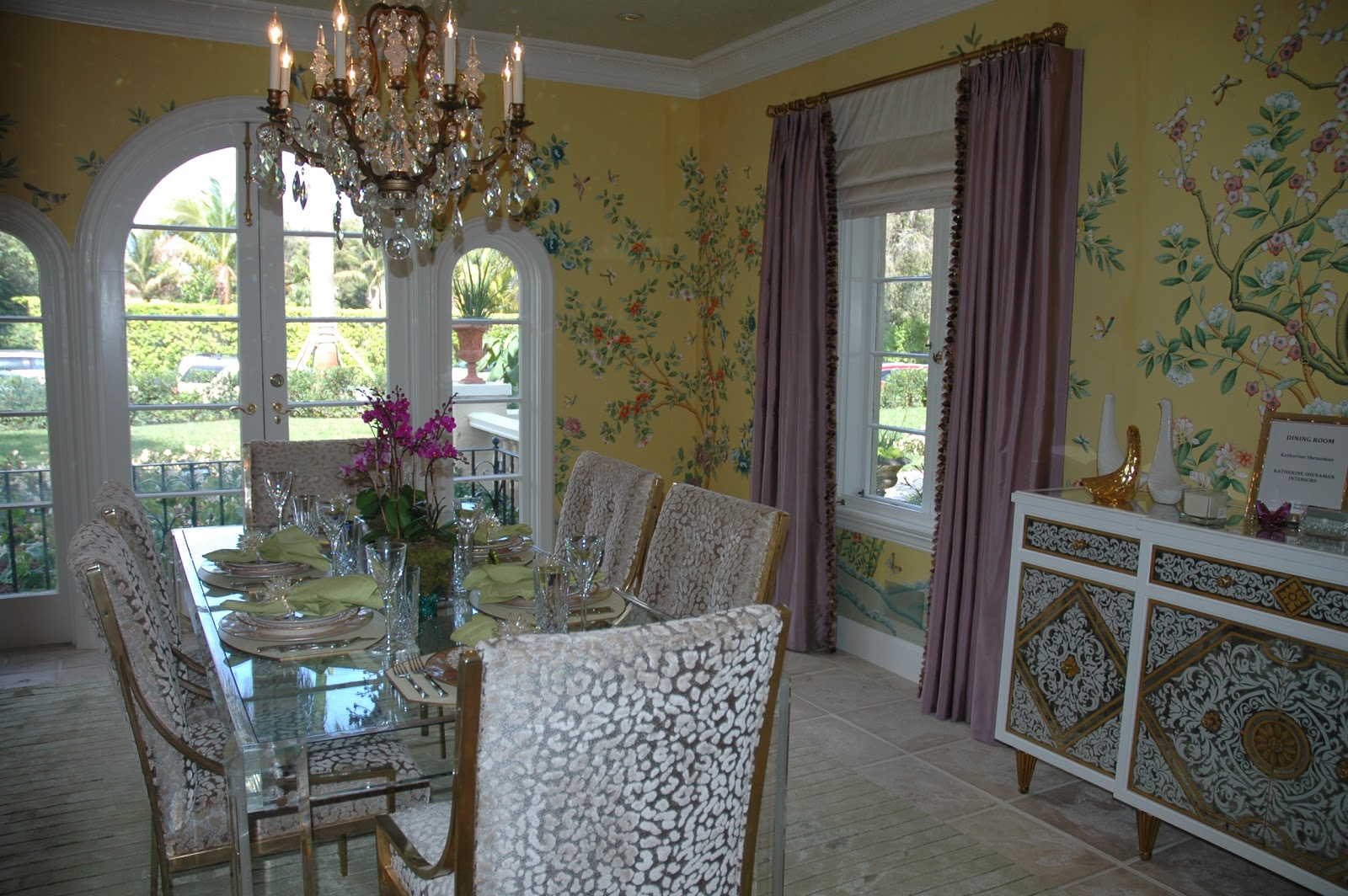 Best The dining room was decorated by Katherine Shenaman whose work you may recall from this perfectly preserved Palm Beach mansion I blogged about in November