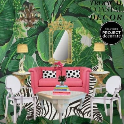 Tropical Coastal Decor: Polyvore's Project Decorate