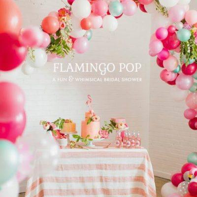 A Flamingo Pop Bridal Shower