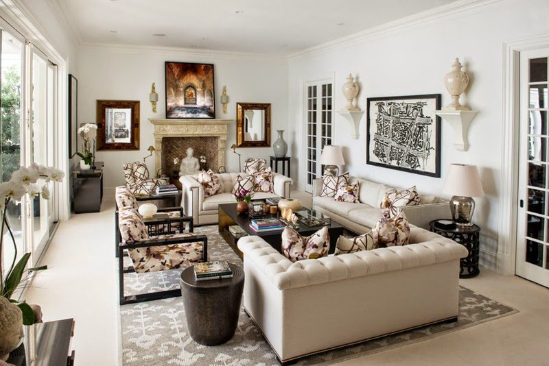 Vintage It features palatial foot ceilings along with original plaster moldings friezes and columns They created a white canvas of surfaces to serve as a