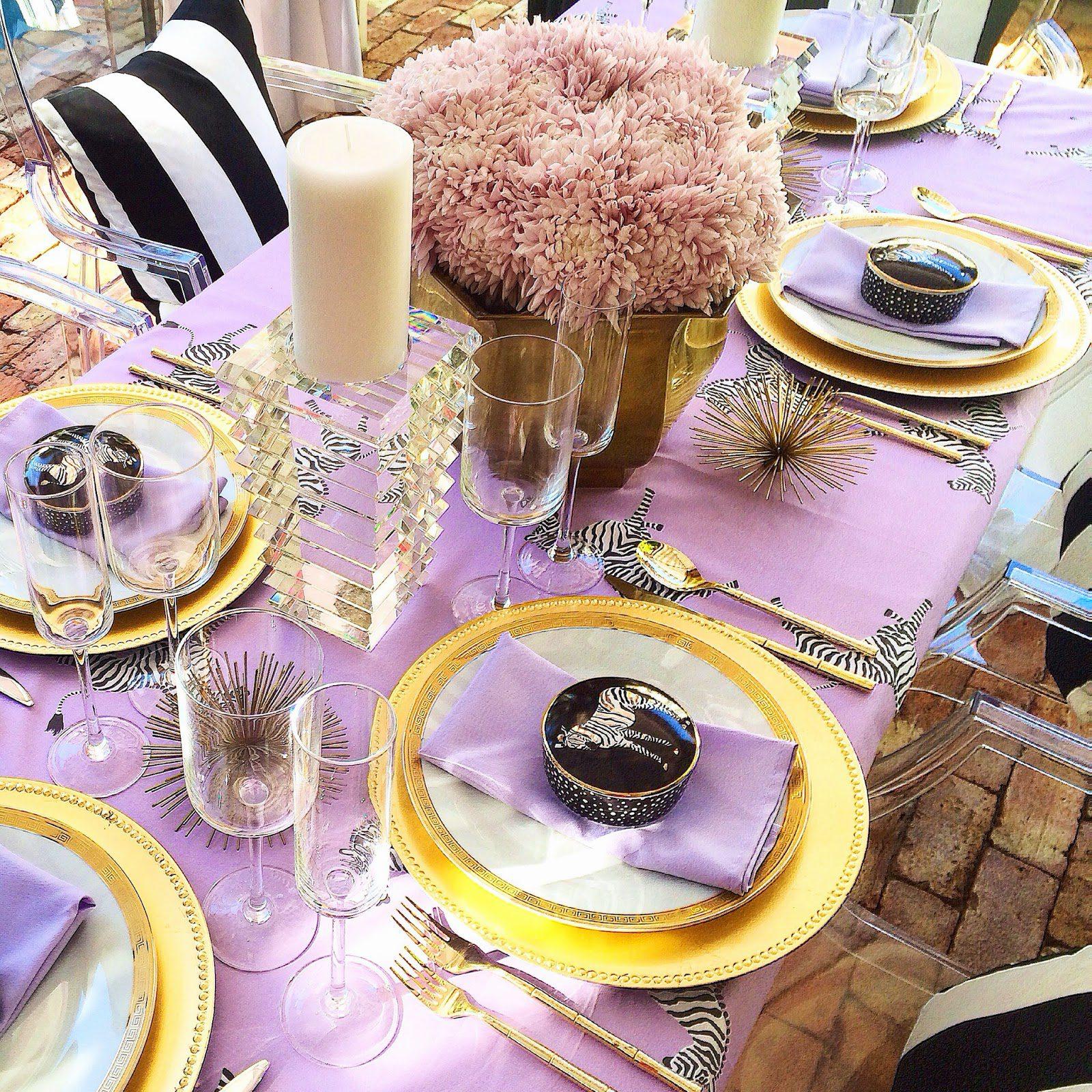 Gold Black White Purple Lavender Baby Shower