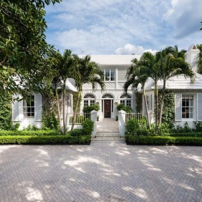 A Bermuda Style Palm Beach Home by John Volk for Rent