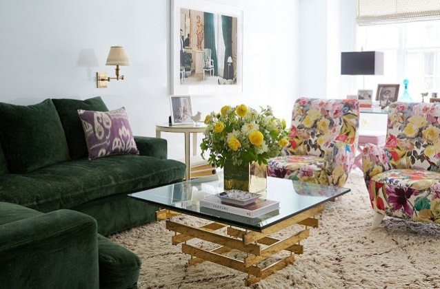 Lilly Upholstered A Pair Of Vladimir Kagan Chairs In Print She Calls Kind Contemporary Chintz The Roman Shades Were Created Using Fortuny