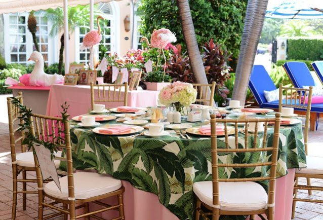 85c7a161155eb The Colony Palm Beach was the perfect venue after its recent renovation  with banana leaf wallpaper in the lobby