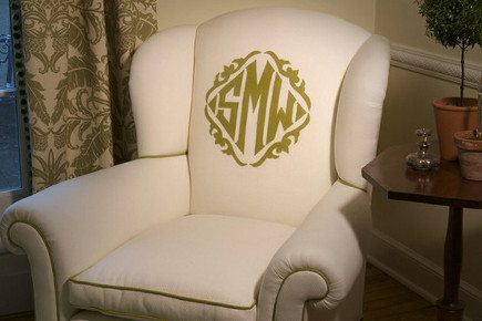 Design Trend Monogrammed Chairs