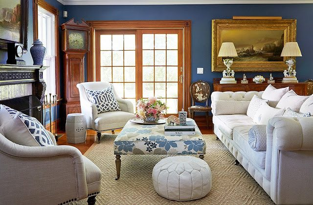 Blue and white in the hamptons the glam pad for 420 room decor