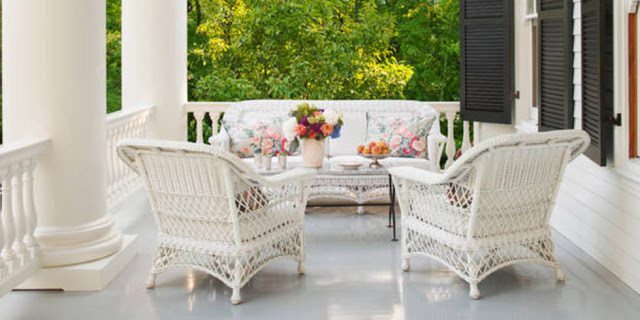 Southern Patio Veranda Lanai Wicker Chintz Furniture