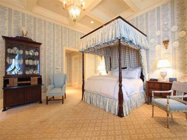 canopy bed master bedroom 20 traditional blue and white bedrooms the glam pad 14698