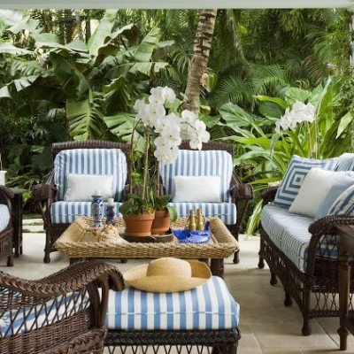 Blue and White Palm Beach Perfection