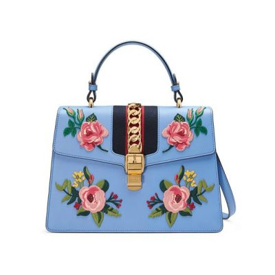 Gucci Embroidered Satchel