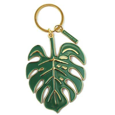 Montserra Leaf Keychain