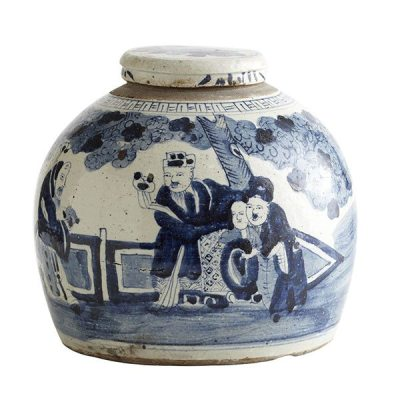 Small Chinoiserie Lidded Jar