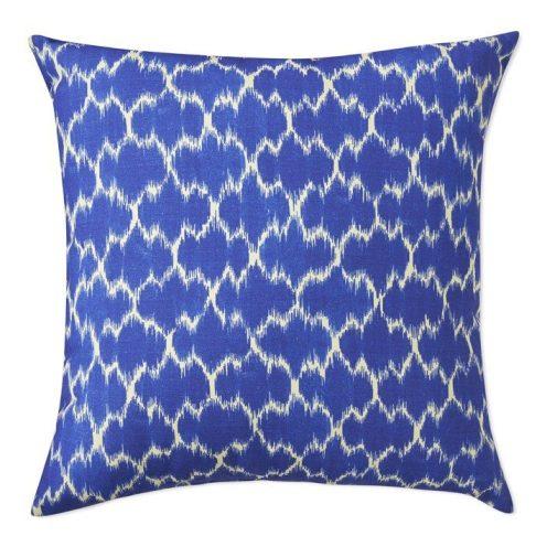 Blue Medallion Outdoor Pillow