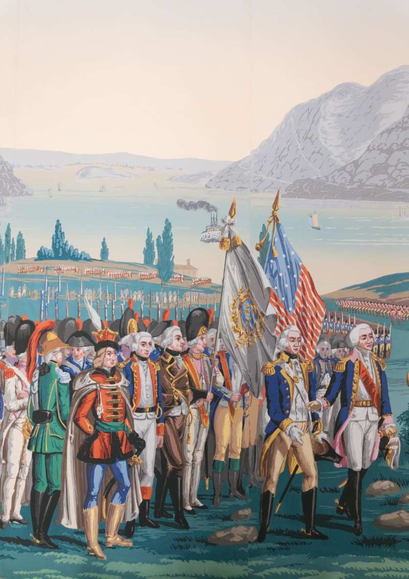 The War of American Independence by Zuber in Patricia Altschul's home. Image via Charleston Home + Design.