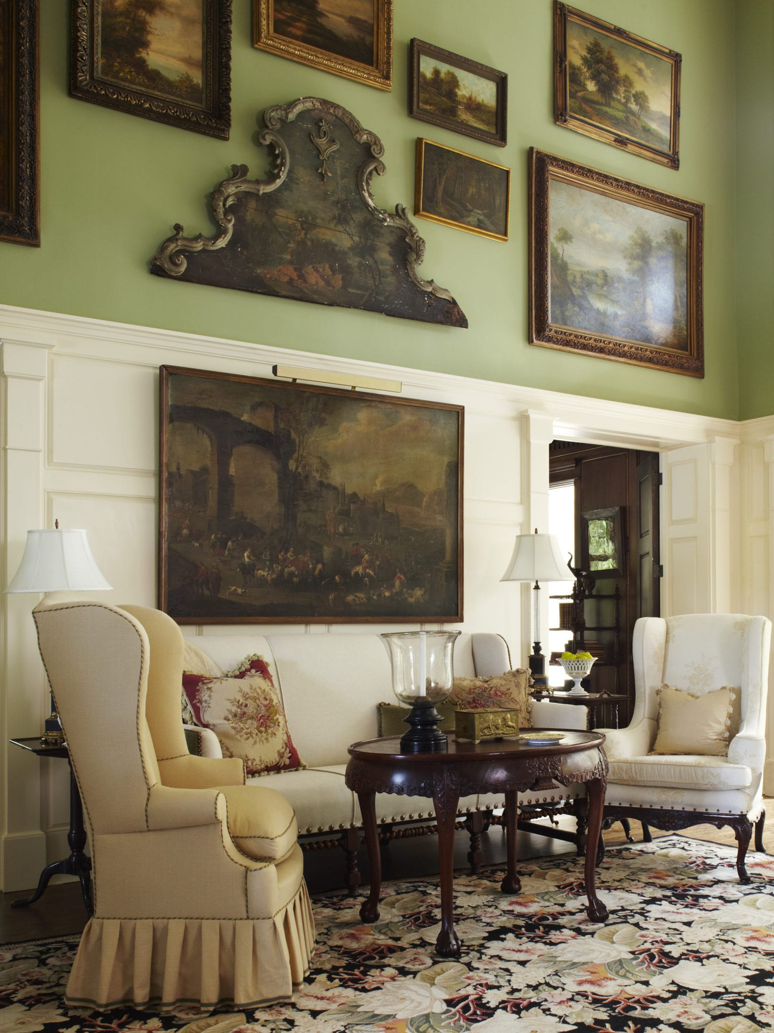 This Gorgeous Mirror Doored Secretary In The Living Room Is An Antique. Part 90