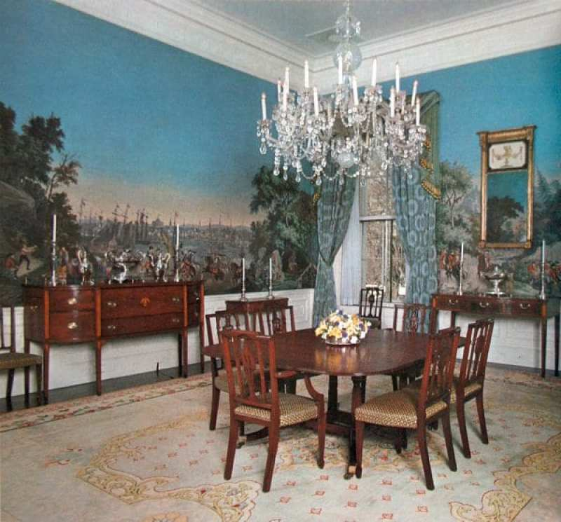 The War of American Independence at the private dining room, The White House, circa 1975