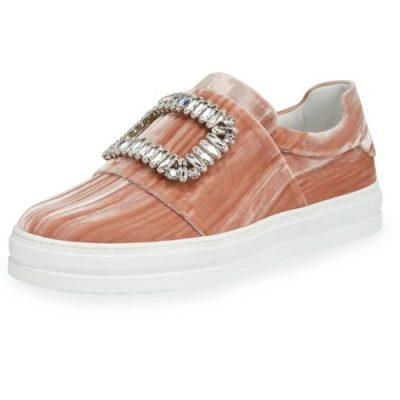 Roger Vivier Velvet Sneakers