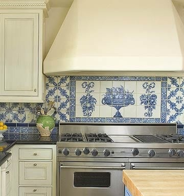Bon Blue And White Tile Backsplash