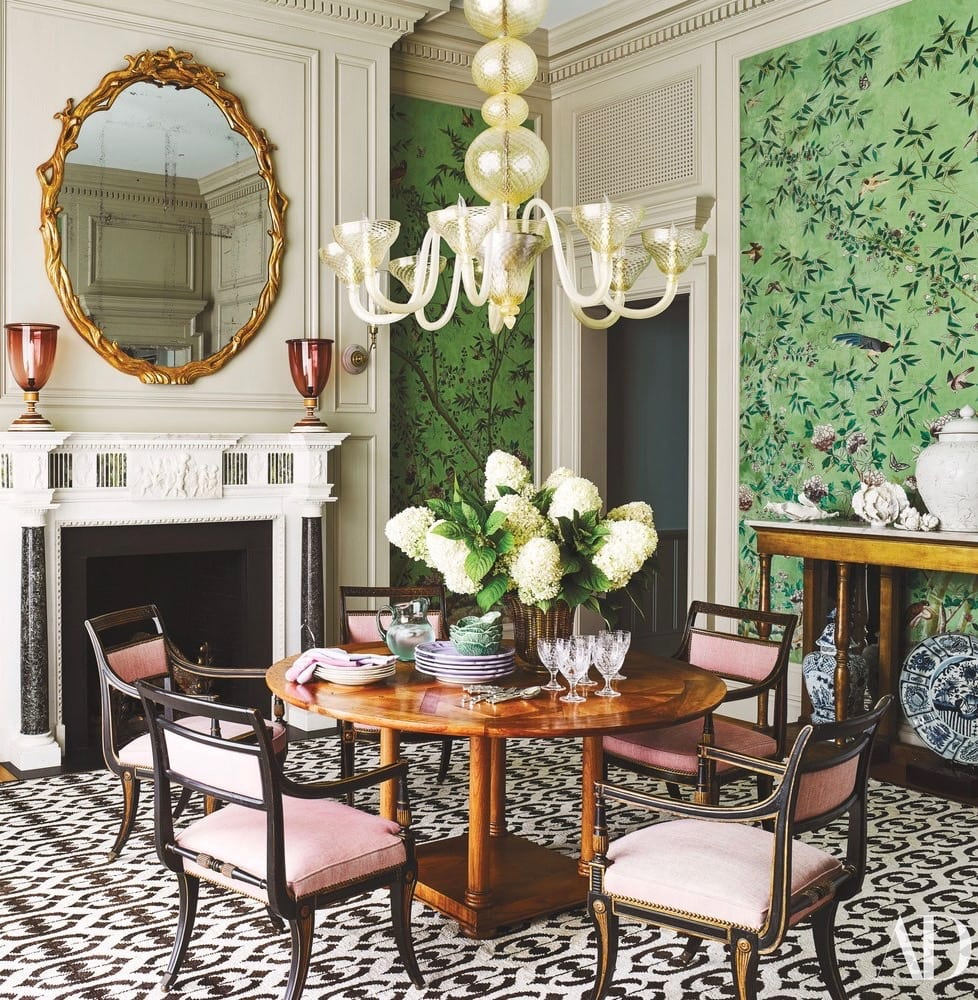 De Gournay Gracie Chinoiserie Wallpaper Dining Room The