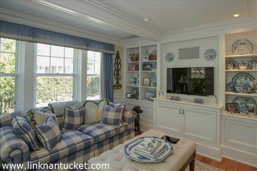 Gingham Buffalo Check Plaid Sofa Blue White
