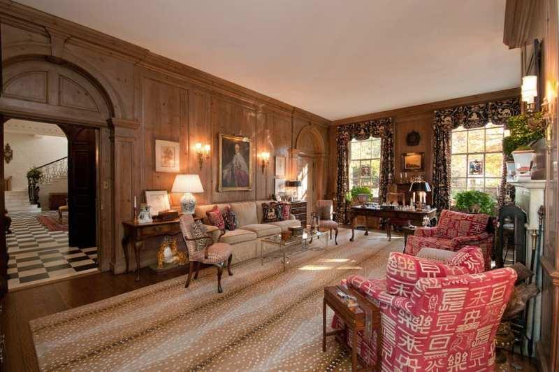 stark-antelope-rug-wood-paneled-family-room-den-library-study