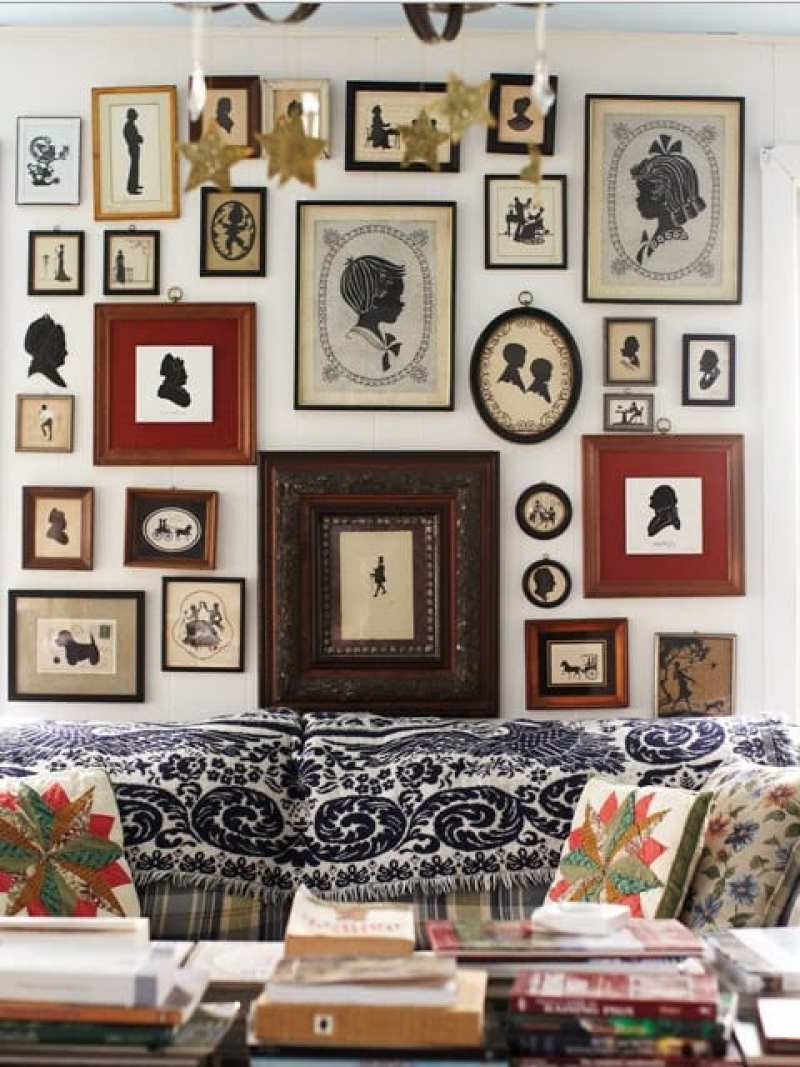 gallery-wall-art-antique-silhouettes
