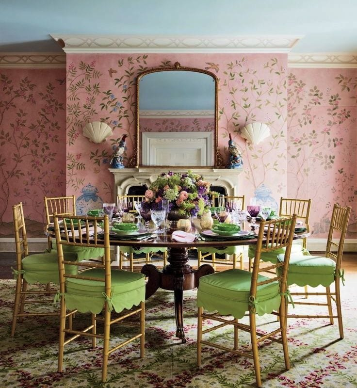 f3a297695ee pink-chinoiserie-wallpaper-tory-burch-dodie-thayer-lettuceware - The ...