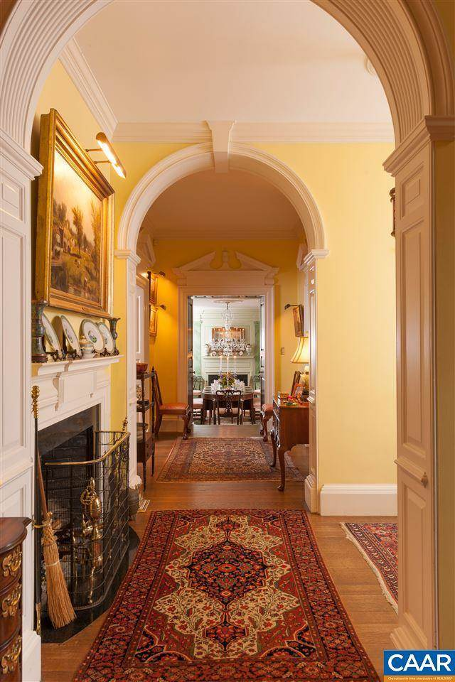 mt sharon orange virginia hallway yellow paint persian rugs