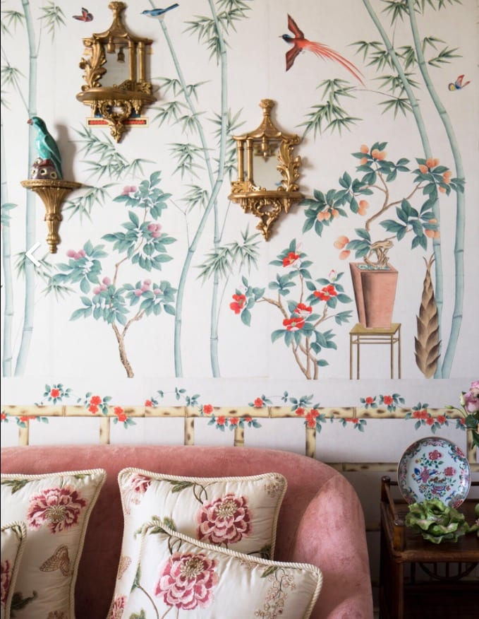 Chinoiserie Hand Painted Wallpaper Gracie De Gournay The