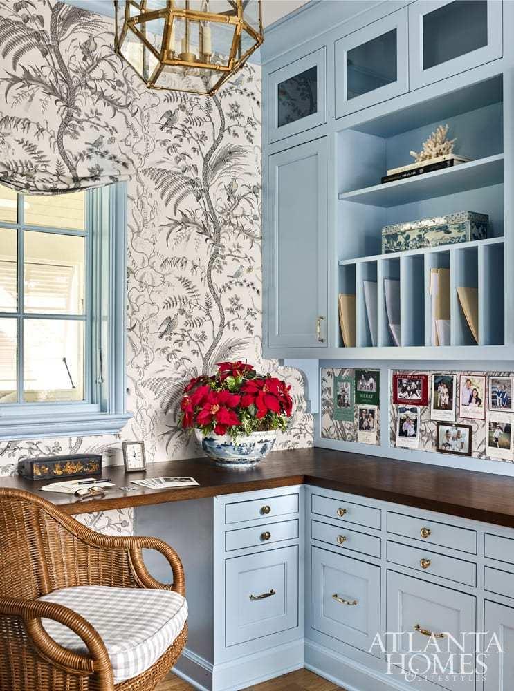 Poinsettas For Christmas 2020 brunschwig fils bird thistle office roman shade poinsettas clary