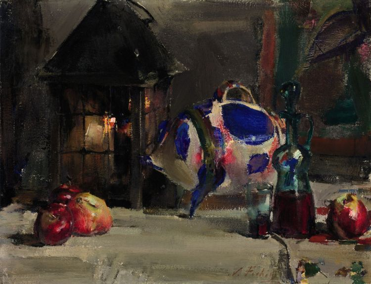 Still Life with Mexican Pottery Pig, Fechin