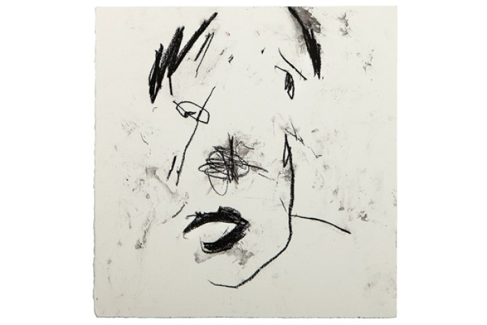 Frances Aviva Blane - Head 27: 33x33 cm, compressed charcoal on fabriano paper