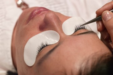Lashes being applied by Daxita at Atherton Cox